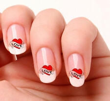 20 Art Ongles Stickers Transferts Autocollants #712 Cœur D'amour Saint valentin