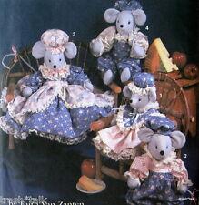 """Mouse craft pattern MICE 14"""" 18"""" boy girl family Faith Van Zanten OOP"""