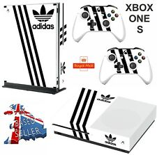 ADIDAS WHITE & BLACK xbox one S (SLIM) Decals skins wrap vinyl stickers