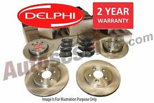 Delphi For Nissan X-Trail Front Rear Brake Discs Pads 2.0 DCI 2.5 T31 07-Onwards