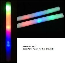 "Party Favors12"" Multicolor LED Flashing Light Effect Sticks Color Changing Foam"