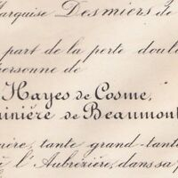 Flavie Des Hayes De Cosme Léon La Bonninière De Beaumont 1881