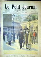 Le Petit Journal N°394 du 5/6/1898 - Rentrée de la chambre des députés