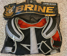 NEW Brine Uprising Lacrosse Pads Black White Youth Size SMALL S