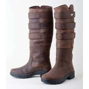 Rhinegold - Elite Colorado Boot - Equestrian Country Boot - Brown Waxy Leather