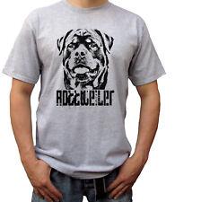 Rottweiler - grey t shirt top rott tee rottie dog design - mens sizes