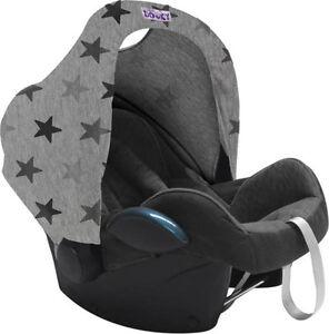 Dooky Hoody Sonnenschutz für Babyschale Design Sterne Grey Stars