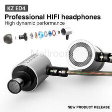 KZ-ED4 Subwoofer HIFI Metal HiFi 3,5mm in ear Bass Stereo headphones earphones