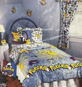 Vintage Comforter POKEMON Twin Complete Bedding Set Sheets Pillow In Package
