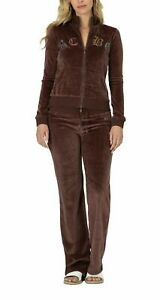 BCBG MAXAZRIA, Stone Detail Cross Zip up Jacket & Pant Set BCV11089J/P Chestnut