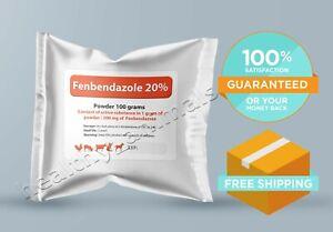 Fenbendazole 20% 100g Powder De-wormer Panacur Safe Guard Dog Cat ***