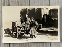 VINTAGE REAL PHOTO POSTCARD MILITARY WWII RPPC