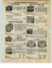 1937 PAPER AD Mickey Mouse Ovel Lunch Box Kit Tin Plate