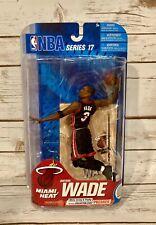 DWYANE WADE Miami Heat NBA Series 17 McFarlane Black Jersey. New In Package!