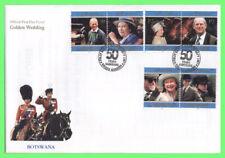 Botswana 1997 QEII Golden Wedding set on First Day Cover