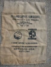 Holland Coffee- San Gabriel Organic Gunny Bag - Burlap