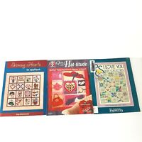 Quilting Pattern Craft Books Lot of 3 Hearts Applique Baby Collection Hat-titude