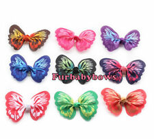 5 Colorful Spring Butterfly Puppy dog grooming Bows Shih-tzu Maltese Yorkie
