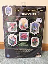 Dimensions Gold Collection Cross Stitch Christmas Keepsake Ornaments 8660 Sealed