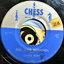 Chuck Berry 45 Rock 1956 Original Roll Over Beethoven Drifting Heart Nice VG