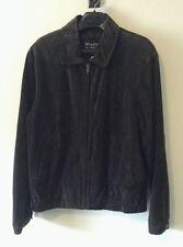 Wilsons Leather Experts Dark Brown Suede Jacket Men's L