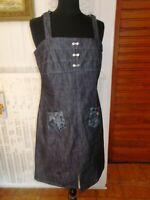 Robe TUNIQUE coton/polyester gris stretch UN POINT C'EST TOUT 44 bretelles