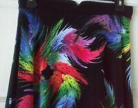 Carmen Marc Valvo Women's Floral Skirt Stretch Flare Skirt SIZE 10 NEW