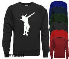 DAB Emote Inspired Sweatshirt Jumper Top Kids Boys Girls Gift Battle Royale
