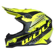 Kinder Cross Helm Off Road Pro XL 53-54cm gelb Motorrad Quad Bike Enduro MX BMX