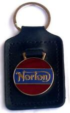 Norton Keyring Key Ring - badge mounted on a leather fob