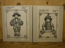 """2 Nostalgia Period & Folk Chinese Clothes Patterns for Baby 14"""", Woman 17"""" dolls"""