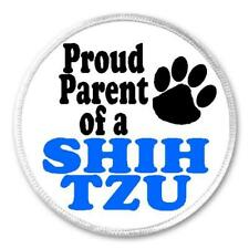 """Proud Parent Of A Shih Tzu - 3"""" Sew / Iron On Patch Dog Breed Lover Puppy Gift"""