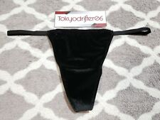 M Victoria's Secret VERY SEXY Velvet V String G String Thong Underwear Black