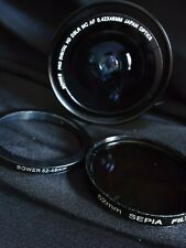 Bower Pro Digital 0.42x 46mm Optics Lens w 52-46mm Filter & 52mm Sepia Filter