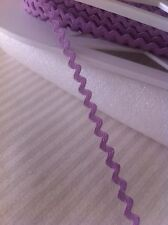 Mini Ric Rac Braid Trim 5mm x 2 Meters Orchid Purple Made in USA