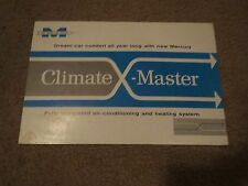 1957 MERCURY MONTEREY MONTCLAIR CLIMATE MASTER A/C ORIGINAL RARE SALES BROCHURE