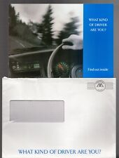 Volvo 'What Kind Of Driver Are You' Questionnaire c1993 UK Mailer Brochure