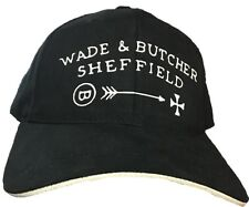 Wade & Butcher Straight Razor Hat Black Brushed Cotton Twill