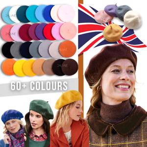 Women/Girls Cute Plain Beret Summer French Hat Stylish Autumn Winter 100% Wool