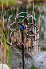 Lighted Wind Spinner Garden Yard Decor Kinetic Windmill Turbine Outdoor Stake