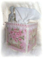 Teapot & Teacup Pink Shabby Roses Pink Tissue Cover Lace Cottage Chic