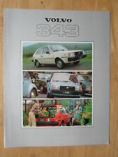 VOLVO 343 DL 1979 UK Mkt Sales Brochure