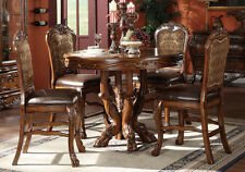 5 PC Dresden Traditional Cherry Oak Counter Height Dining Table Set w/ Claw Foot