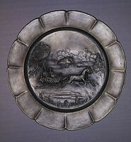 Vintage 1974 Currier and Ives Worcester Pewter The Road Winter
