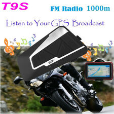 1000M T9S Motorcycle Intercom Waterproof Helmet Bluetooth Headset Interphone FM