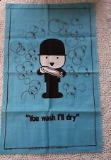 More details for  retro spillers homepride fred flour linen teatowel turquoise