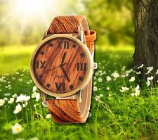 Armbanduhr WOOD Design Damen UHR Holzlook braun bronze Natur Sport Mädchen
