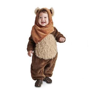 Disney Authentic Star Wars Infant Ewok Halloween Costume for Baby Sz 3-6M NEW WT