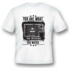 You are what you watch black or white tee