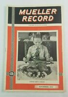 1943 Mueller Co. Record Decatur Illinois Gas Plumbing Tools Drills History WWII